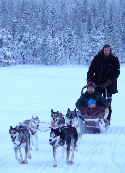 Husky Safaris with Soulmate Huskies in Mount Ritavaara in Pello in Lapland