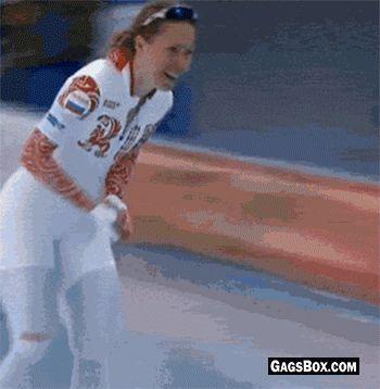 Olga Graf celebrated Russia's first medal in the Sochi Winter Olympics by unzipping - #funny, #lol, #fun, #humor, #gag, #gif, #lolgifs, #Funnygifs,