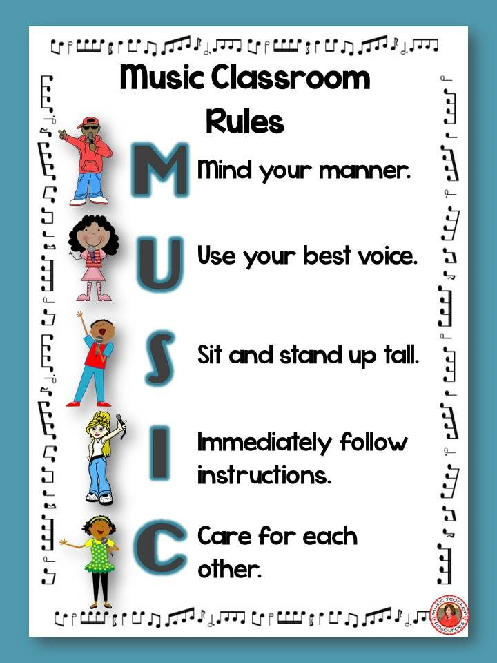 Music Rules | Music Ed | Music class rules, Music decor, Music