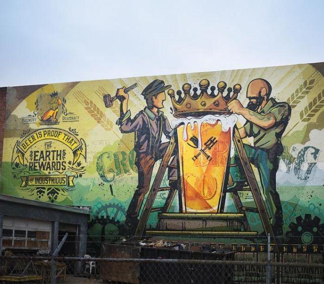 The Art of Beer Murals showcase past and present Cincinnati brews