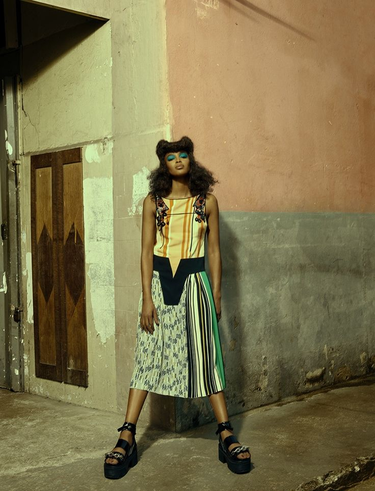Naomi Campbell Works It in Eclectic Style for Vogue Brazil Editorial