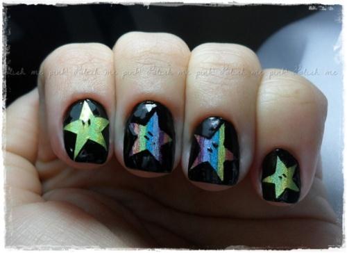 Star Cutout Nails