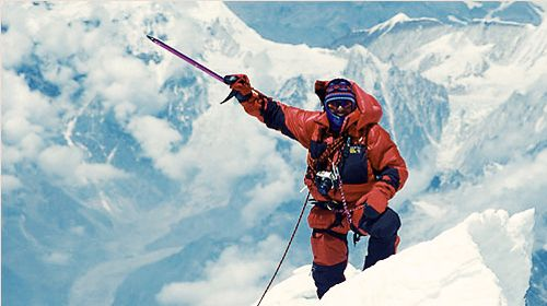 Ed Viesturs - The first American to have climbed all fourteen of the world's eight-thousander mountain peaks, and the fifth person to do so without using supplemental oxygen. He has summited peaks of over 8,000 meters on 21 occasions, including Mount Everest seven times; only two other climbers, Phurba Tashi Sherpa Mendewa and Juanito Oiarzabal, have more high-altitude ascents.