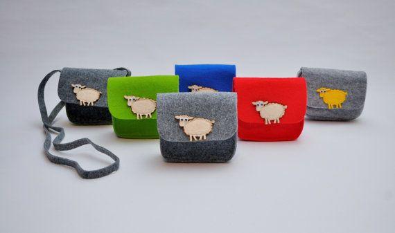 Sheep Purse Sheep Bag Toddler Girl Children Purse by CelticSecrets