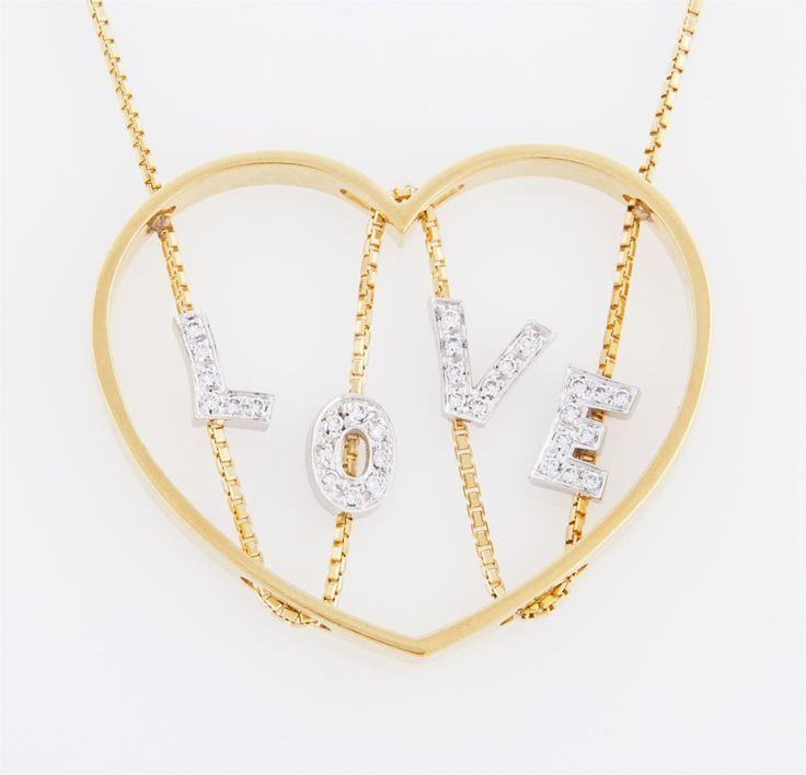 Collana in oro bianco e giallo 18kt g 12,4 con diamanti ct 0,15
