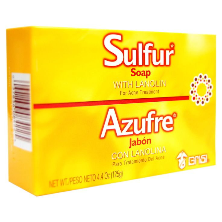 Grisi Sulfur Soap with Lanolin For Acne Treatment 4.4oz