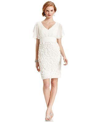 Macys Com Js Collections Split Sleeve Applique Dress