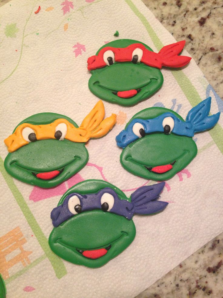 Ninja turtle cupcake toppers TMNT