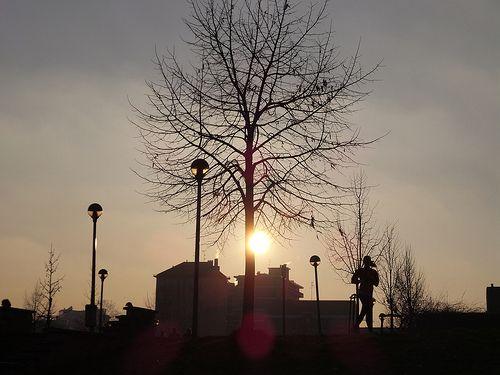 YLBERT in BLOG: Tramonto invernale di Milano