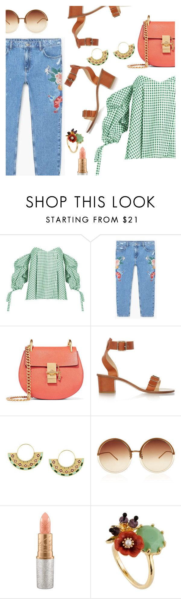 """""""Something I would like to wear :)"""" by dressedbyrose on Polyvore featuring Caroline Constas, MANGO, Chloé, All Tomorrow's Parties, CA&LOU, Linda Farrow, Mariah Carey, Les Néréides, ootd and polyvoreeditorial"""