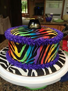 Stepford Sisters: Rainbow Zebra Cake Tutorial