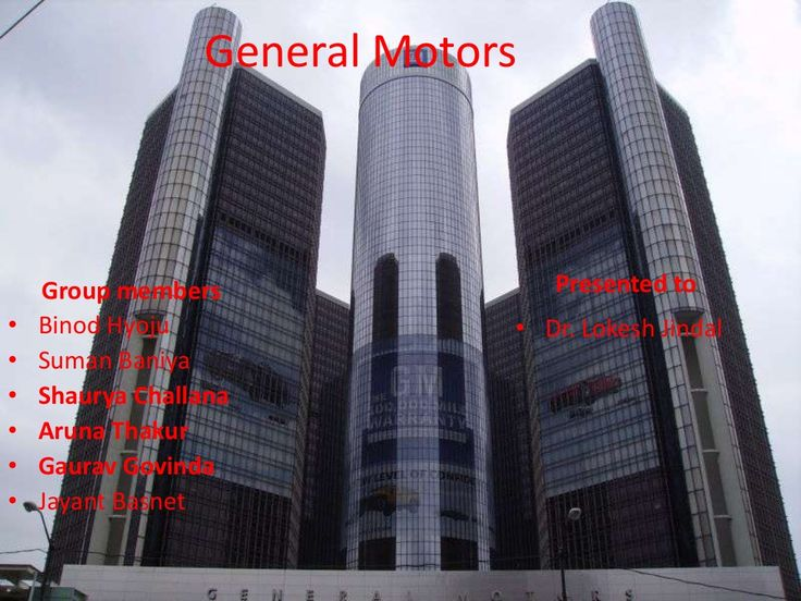 General motors by Binod Hyoju via slideshare