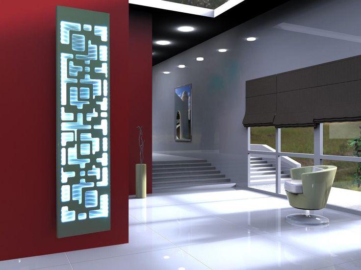 Heizkörper Design Downtown 3 + LED, 180 X 47 Cm, 1118 Watt, Edelstahl