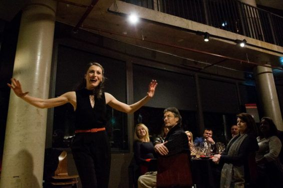 2016 Alison Plevey launching the Australian Dance Party at Nishi. Photo: Lorna Sim