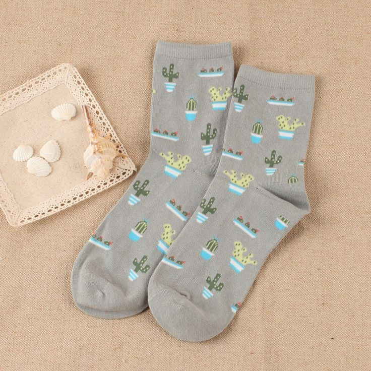 ZDL072 New Autumn and Winter Korea Plant Cotton Socks Women Socks