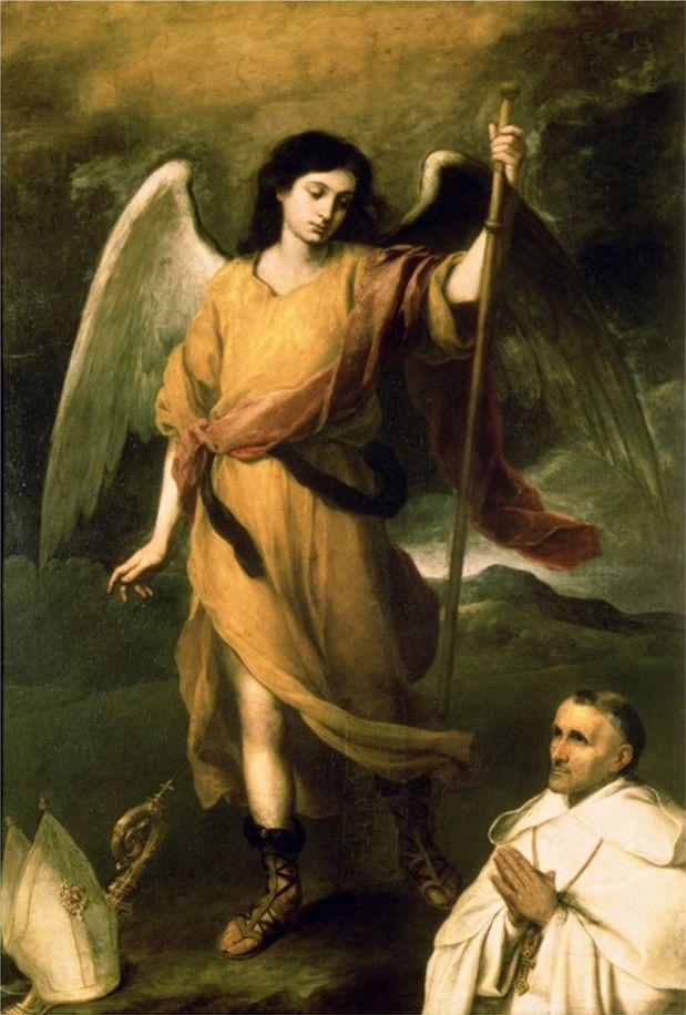 Αρχάγγελος Ραφαήλ με τον επίσκοπο Domonte (1680) Μουσείο Πούσκιν στη Μόσχα