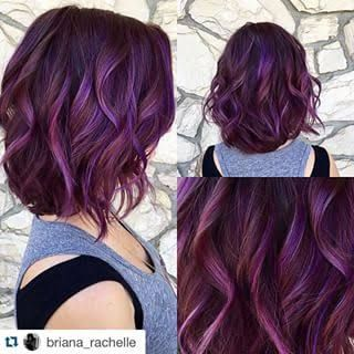 Image result for subtle dark purple hair