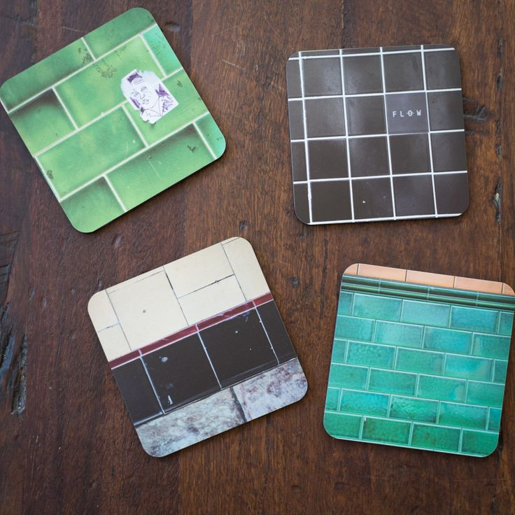 Freo Walls Set of 4 Coasters showing some of the brickwork found around Fremantle