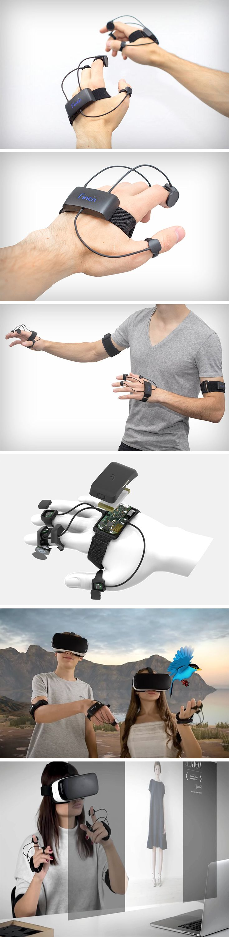 While there have been some dramatic changes made with headsets since its inception, there hasn't been nearly half as many with VR controllers. That's where Andrey Dalakishvili & Mikhail Oleynikov come in, the creators of Finch Hands – the digital controller that combines the convenience of the glove and functionality of the gamepad. Finch is suitable for hands of all sizes and shapes and can't be dropped, which detracts from the experience using other digital controllers.