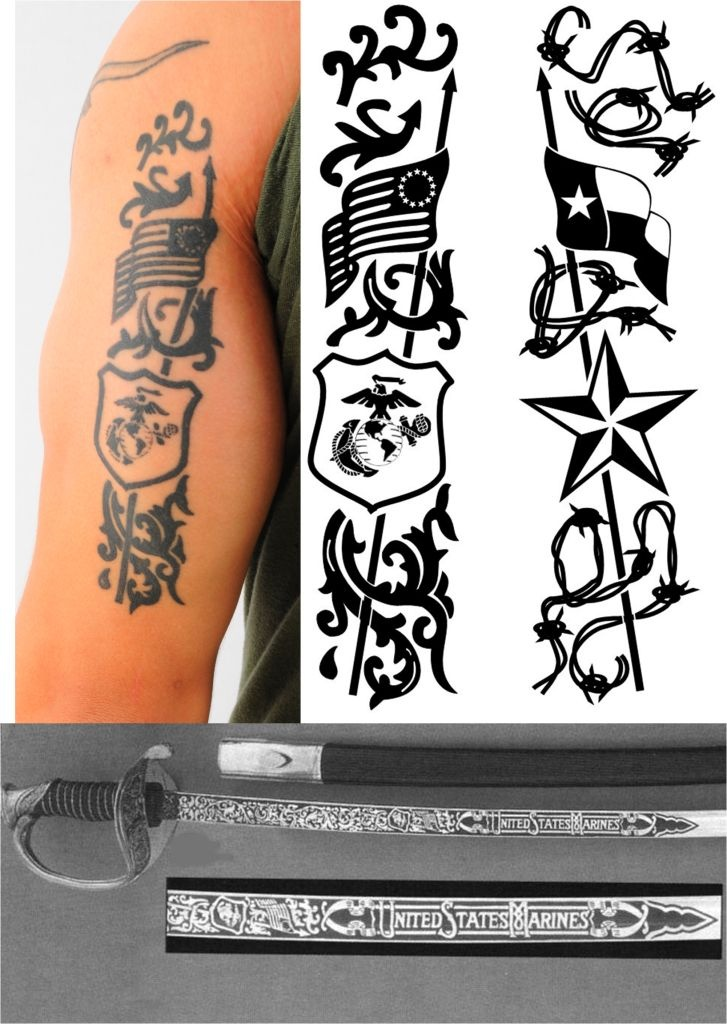 tricep tattoo marine nco sword inspired tattoo ideas pinterest swords. Black Bedroom Furniture Sets. Home Design Ideas