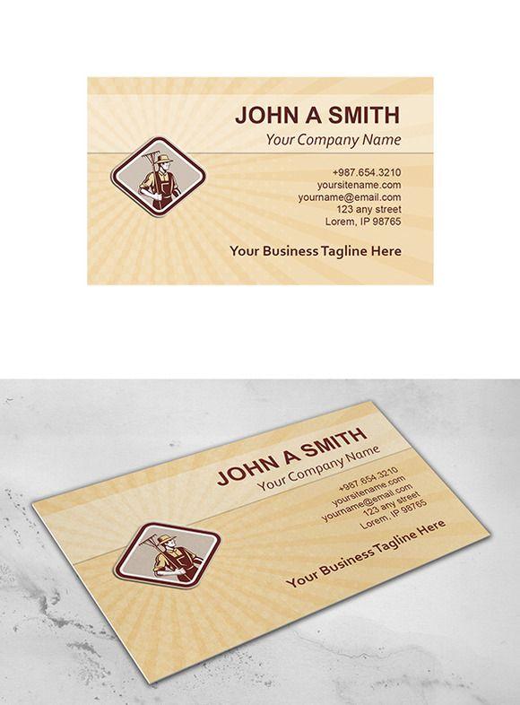 Business Card Template Organic Farme ~ Business Card Templates on Creative Market