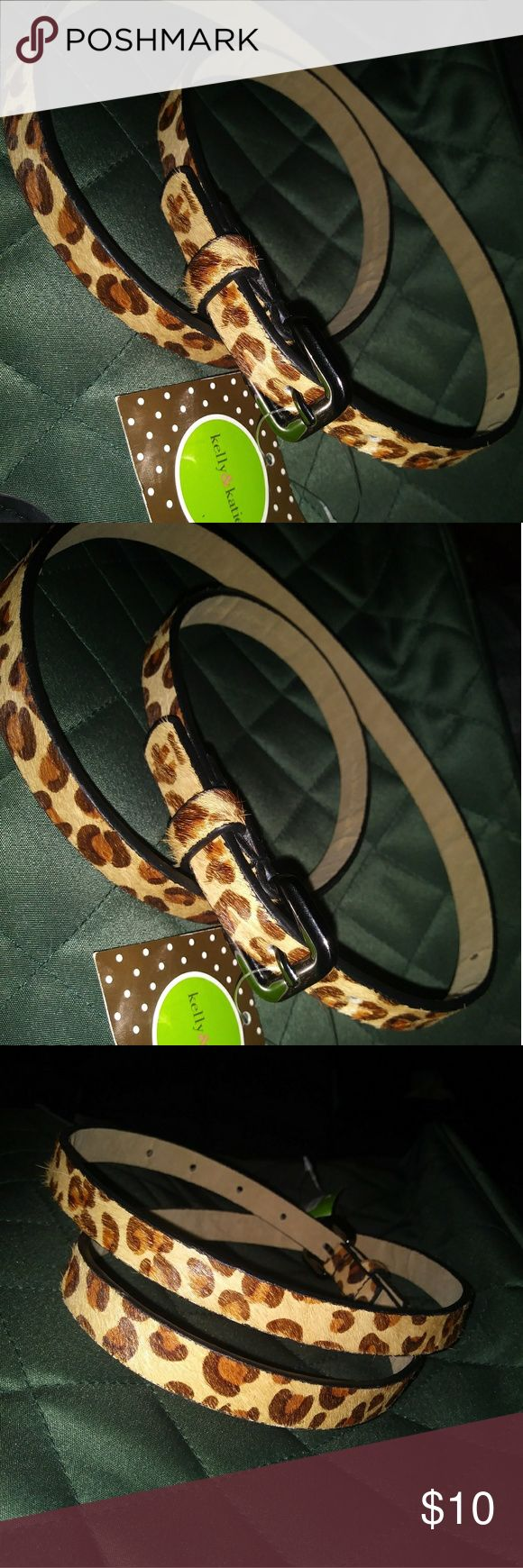 Animal Print Belt Animal print  Leopard print Cheetah print Kelly & Katie Accessories Belts