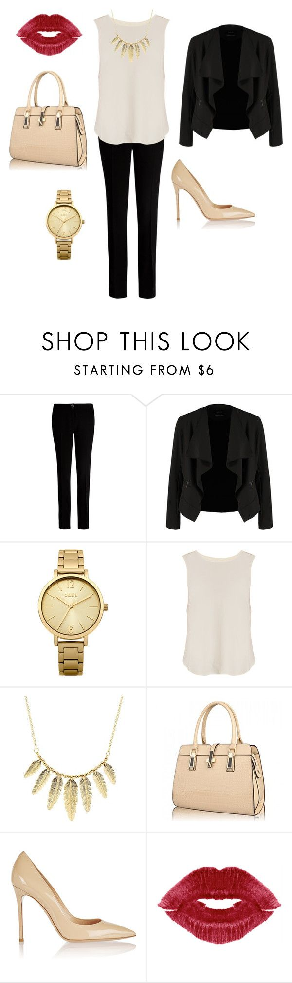"""""""Day at the office"""" by amanda-j-burke on Polyvore featuring Ted Baker, OPUS Fashion, Oasis, rag & bone, Charlotte Russe and Gianvito Rossi"""