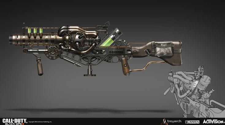 ArtStation - Call Of Duty Black Ops 3 zombie KT4 concept, Rick Zeng