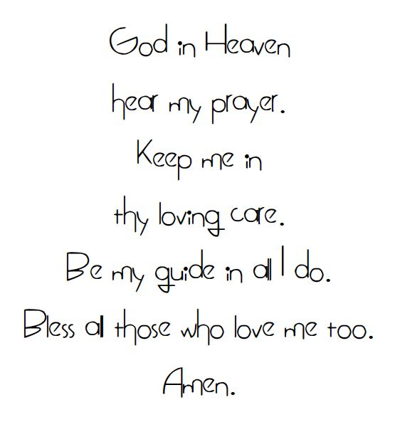 Sweet child's prayer