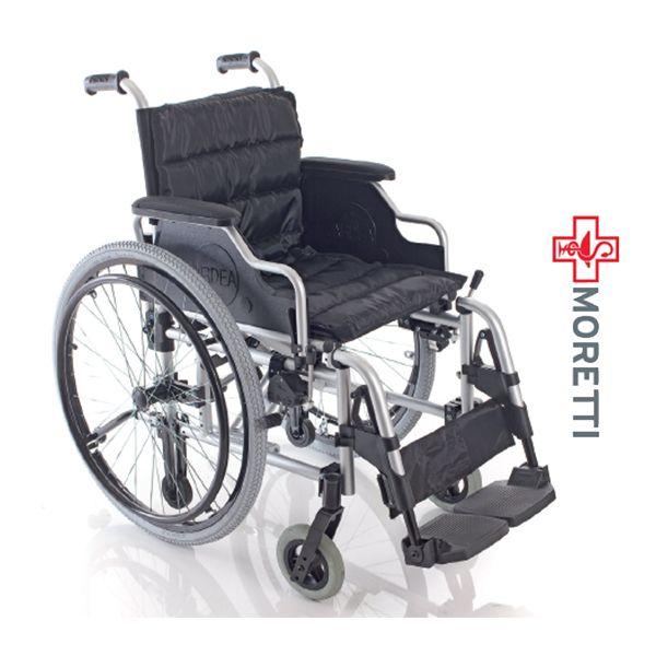 MCB710 - Fotoliu rulant pliabil cu actionare manuala, aluminiu vopsit - dimensiune sezut 45 cm http://ortopedix.ro/carucior-transport-actionare-manuala/191-mcb710-fotoliu-rulant-pliabil-cu-actionare-manuala-aluminiu-vopsit.html