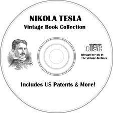 Nikola Tesla Vintage Book Collection on CD - Tesla Patents, Death Ray, Biography