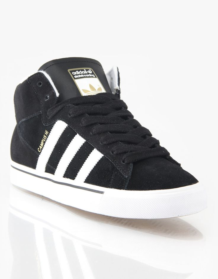 new arrival c2929 26ab9 ... Adidas Campus Vulc Mid Skate Shoes - BlackWhiteGold - RouteOne.co ...