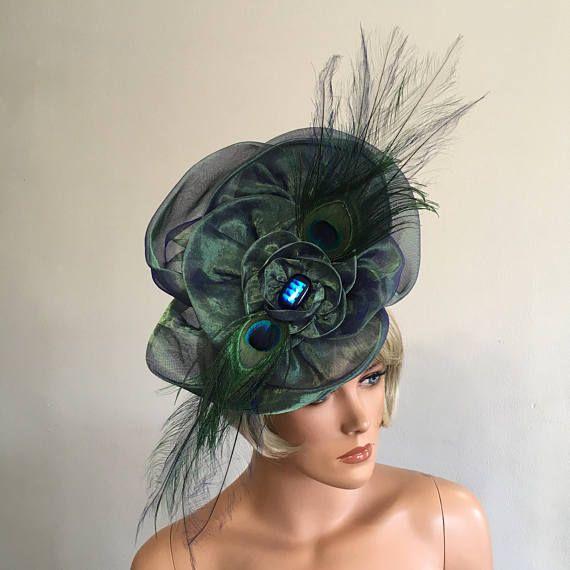 Royal Ascot Hat Royal Ascot Fscinator Blue Fascinator Green
