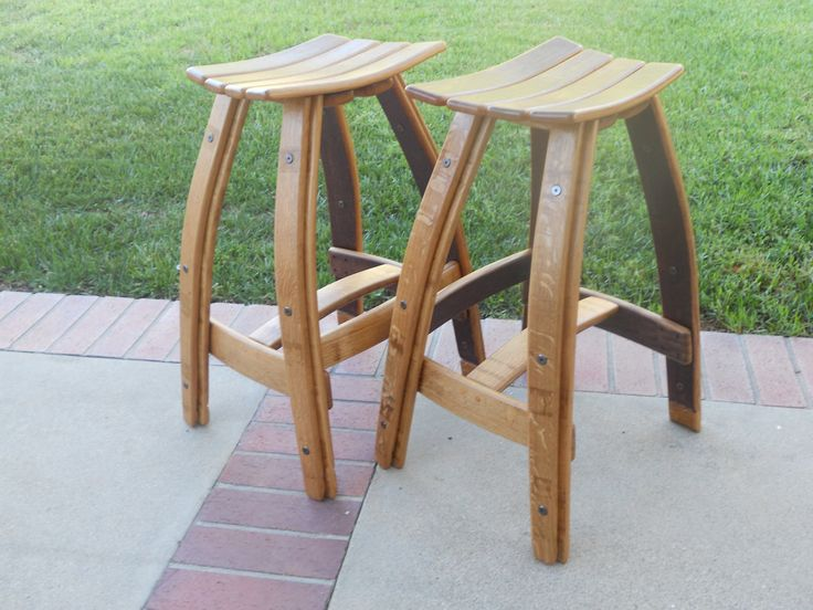 wood barrel bar stools | Wine Barrel Bistro Set With Stave Seat Stool : wine barrel stools - islam-shia.org