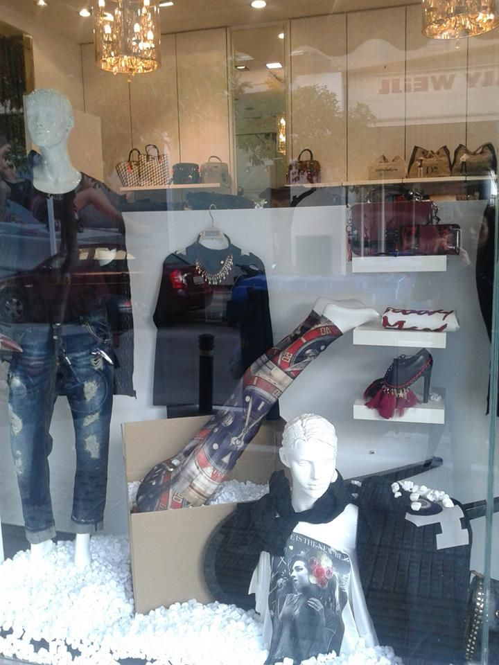 MY work-sales window display
