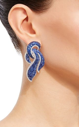 Invisible Set Blue Sapphire Earrings by GIOVANE for Preorder on Moda Operandi