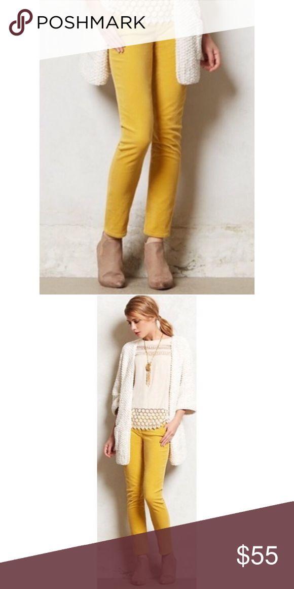 Ag Stevie Slim Petite Mustard Corduroy Pants ✖️Excellent condition  ✖️Great color for fall ✖️Bundle & save ✖️Sold on Anthropologie   T...