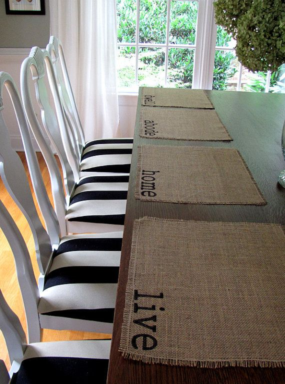 Burlap Placemats A Nice Way To Add Natural Texture To