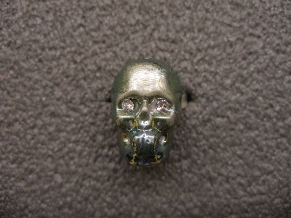 Murano Glass skull ring by GLBriflessi on Etsy, $35.00