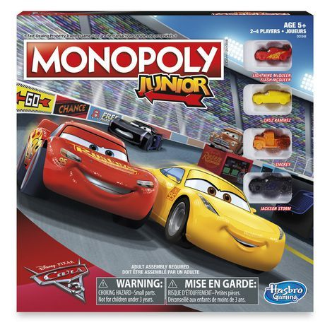 monopoly junior cars 3   walmart