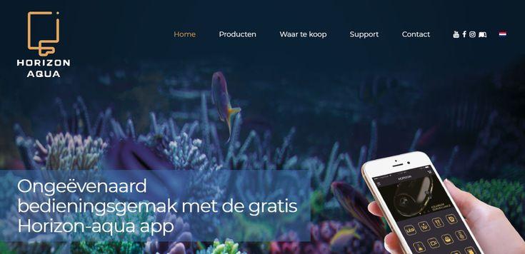 Websiteontwikkeling van www.horizon-aqua.com door Interlynx.