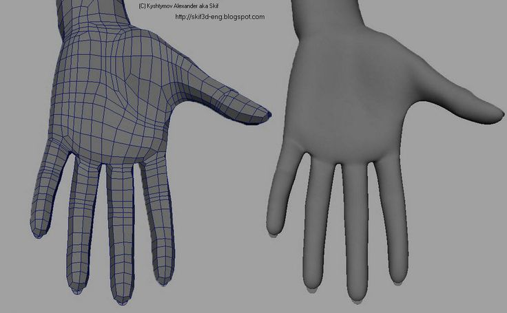 woman hand Topology 1