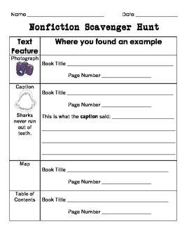 scavenger hunt instructions template