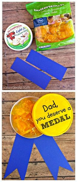 Gold Metal Father's Day Gift for Kids to Make