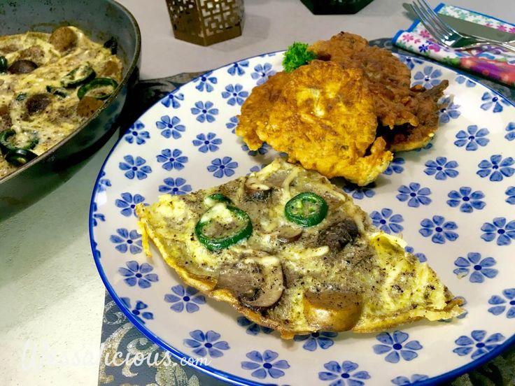 Kaastortilla's, te vergelijken met kaas- of viskoekjes. Lekker en snel te bereiden. We serveren kaastortilla's met een lekkere Turkse omelet met vega worst.