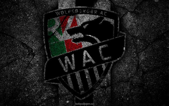 Descargar fondos de pantalla Wolfsberger, logotipo, tipo, Austrian Fútbol, soccer, football club, el FC Wolfsberger, asfalto texture
