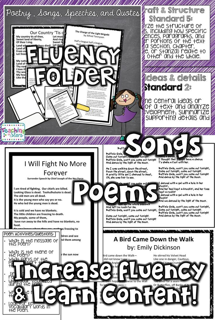 Fluency Folders for Upper Grades is a collection of poems, songs, quotes, and speeches that teach about Americas history as students focus on reading fluency. Common Core Anchor Reading Standards posters can also be used to remind students of the strateg (scheduled via http://www.tailwindapp.com?utm_source=pinterest&utm_medium=twpin&utm_content=post108255299&utm_campaign=scheduler_attribution)