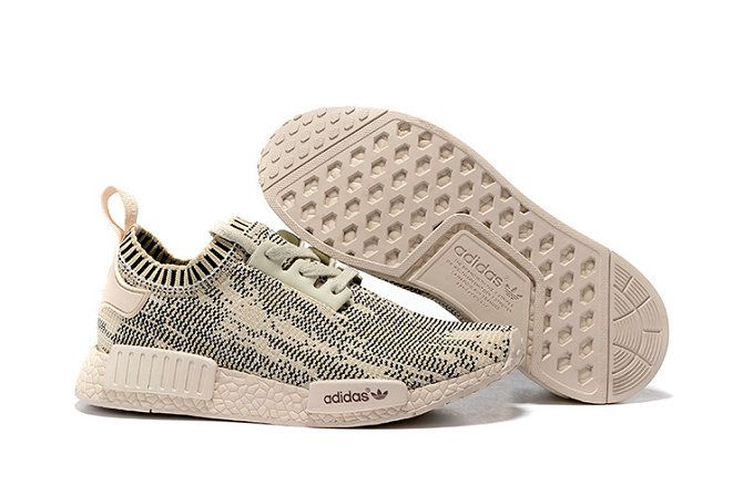 Free Shipping Only 69$ WMNS Adidas NMD Runner Primeknit Grey Core Black Beige