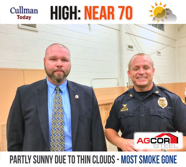 CULLMAN COUNTY WEATHER: TUESDAY - November 15th  Some Clouds, Otherwise Very Nice - High 70°  TODAY: Cullman County's weather brings a thin cloud layer and a high temperature of 70°. The wind will be from the west-southwest at 5 mph. Virtually all of the stagnant wildfire smoke remaining in the area should be gone by day's end.  TONIGHT: Partly cloudy skies with a low around 41°. Winds will be calm.