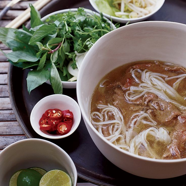 The rice vermicelli soup pho is a staple all over Vietnam and this spicy beef version is the specialty of Hanoi. At home in Connecticut, Marcia Kiesel...